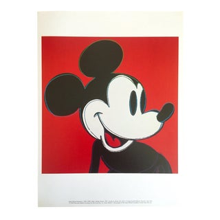 "Andy Warhol Foundation Rare Vintage 1995 Lithograph Print Pop Art Poster "" Myths : Mickey Mouse "" 1981 For Sale"