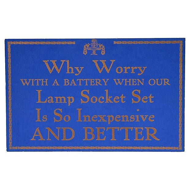 Lamp Socket Set Store Sign - Image 3 of 3