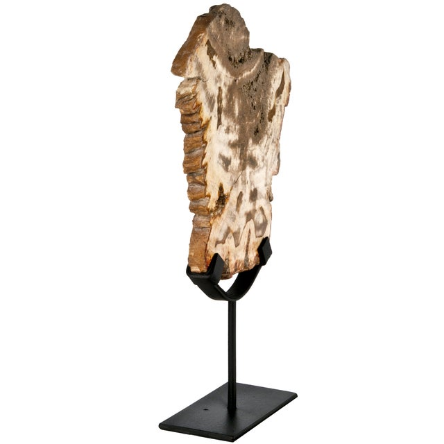 Petrified Wood Slice on Iron Stand - Image 3 of 3