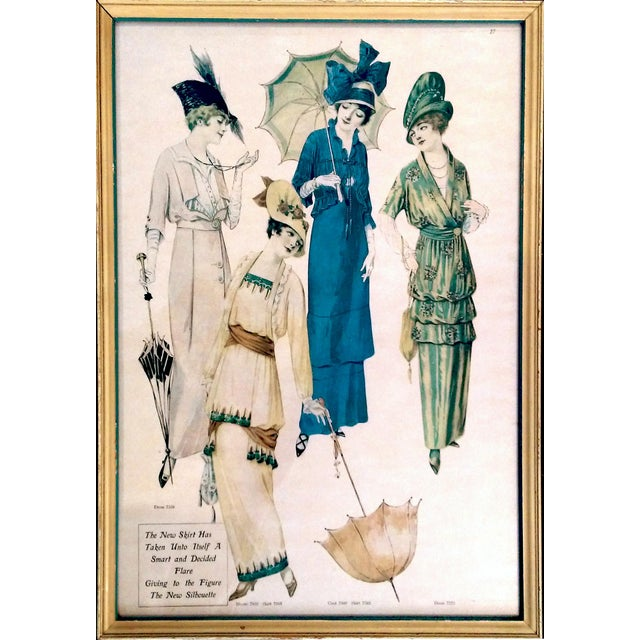 Framed Antique Fashion Advertisements- A Pair - Image 6 of 8