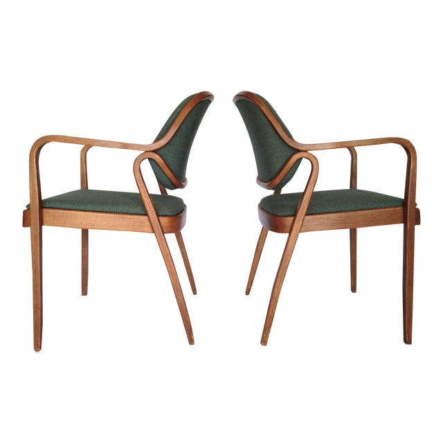 Knoll Bentwood Armchairs by Don Petitt- a Pair - Image 1 of 6