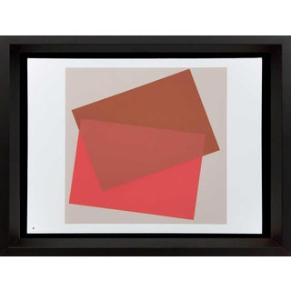 1960s Vintage Josef Albers Original Silkscreen Print For Sale