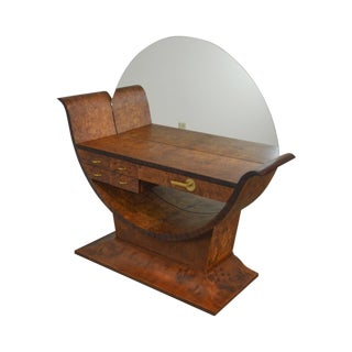 Joerns Bros Art Decos 1930s Burlwood Vanity For Sale