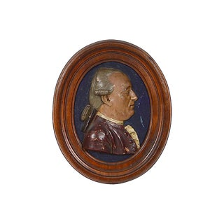 18th Century French Oval Terracotta Portrait Plaque For Sale