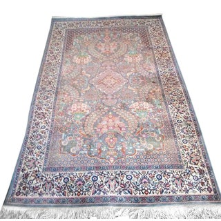 Antique Persian Dabir Kashan Rug-3″ × 6″ For Sale