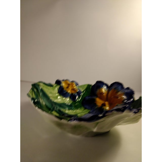 Vintage Italian Hand Painted Iris Bowl - Image 5 of 10
