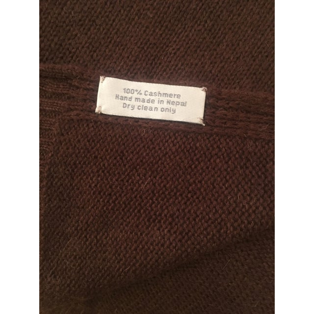 Chocolate Brown Cashmere Blanket - Image 5 of 10