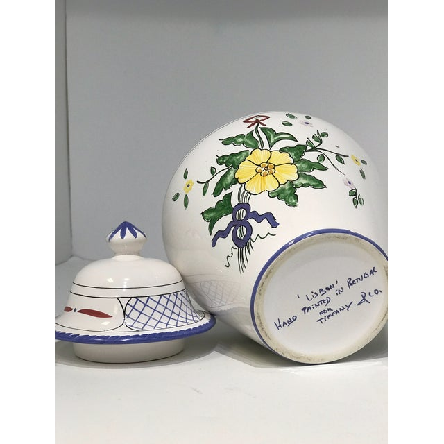 This vintage jar is a charming accessory from Tiffany & Co. in the Lisbon pattern. Made in Portugal. Features 2-piece...
