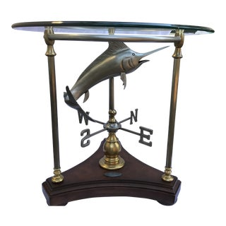 Thomasville Ernest Hemingway Collection Marlin Weathervane Accent Table