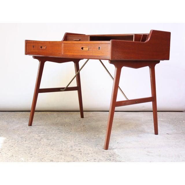 Teak and Brass 'Ladies' Desk by Arne Wahl Iversen - Image 4 of 13