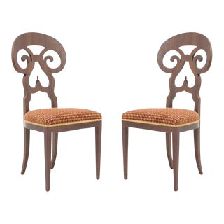 Early 20th Century Biedermeier Mahogany Chairs - a Pair For Sale