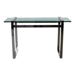 Modern Chrome & Glass Console Table