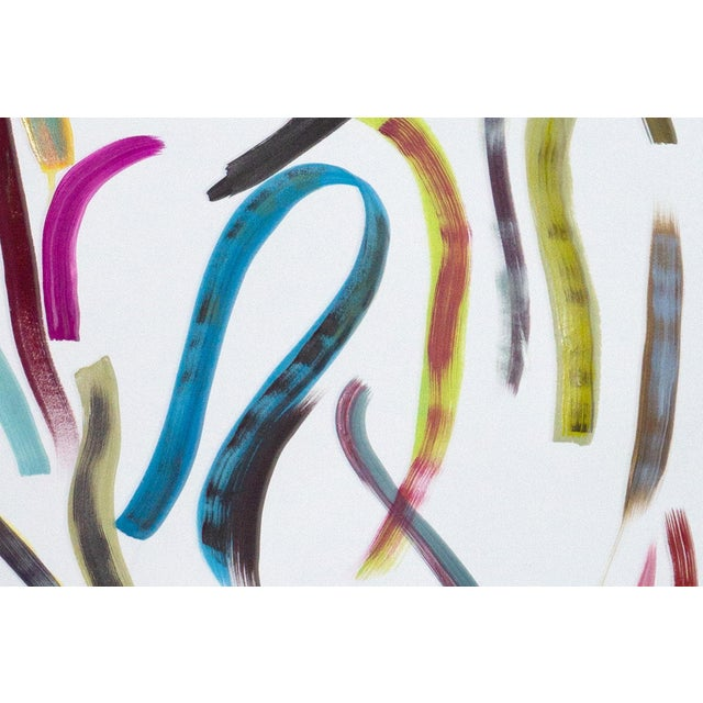 Pastel Ribbon No.4, Abstract Painting Vivid Palette on Watercolor Paper, Vibrant Composition, 2020 For Sale In Miami - Image 6 of 9