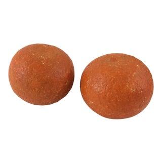 Alabaster Oranges - A Pair For Sale