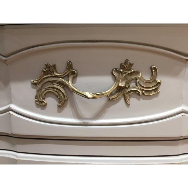 """Ella"" Tall Light Grey French Provincial Dresser - Image 4 of 6"