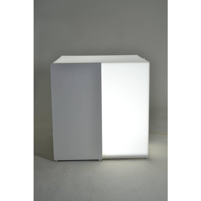 Lighted Lucite and Lacquered Wood Table, circa 1970s - Image 3 of 7