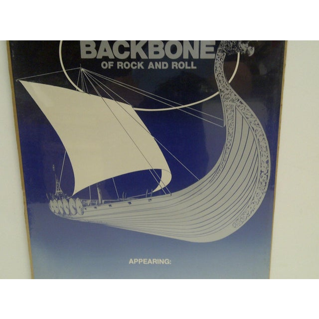 C. 1982 Rock & Roll The Backbone of Rock & Roll Concert Poster For Sale - Image 4 of 4