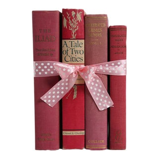 "Vintage Book Gift Set: ""Blush"" Classics - Set of 4"