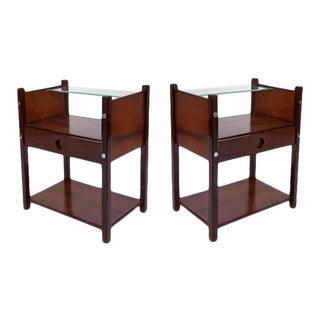 Vintage Sergio Rodrigues Yara Wood Side Tables, Circa 1960-1969 For Sale