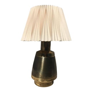 Stiffel Regency Style Brass and Silver Lamp