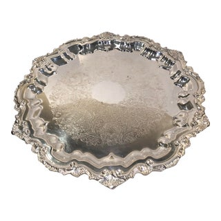 1940s Vintage Wallace Traditional Silver Serving Tray For Sale
