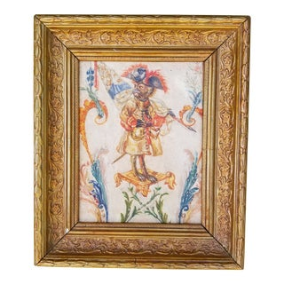 Chinoiseri Monkey Painting For Sale