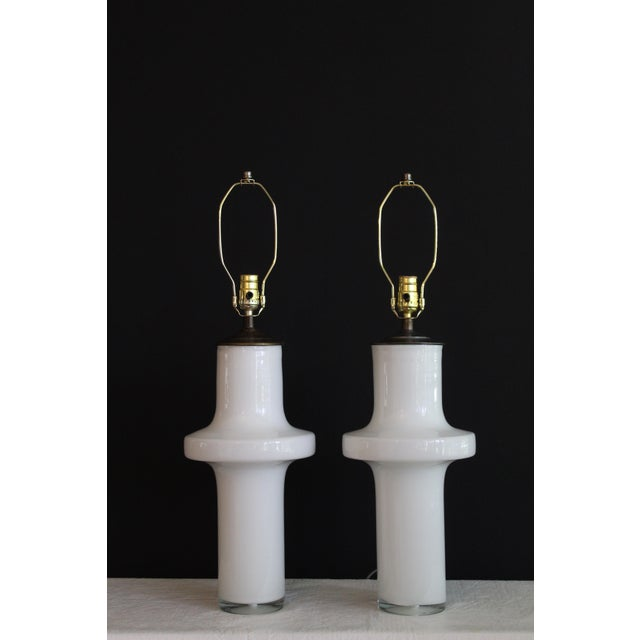 Vico Magistretti Style Murano Glass Table Lamps - a Pair For Sale - Image 12 of 13
