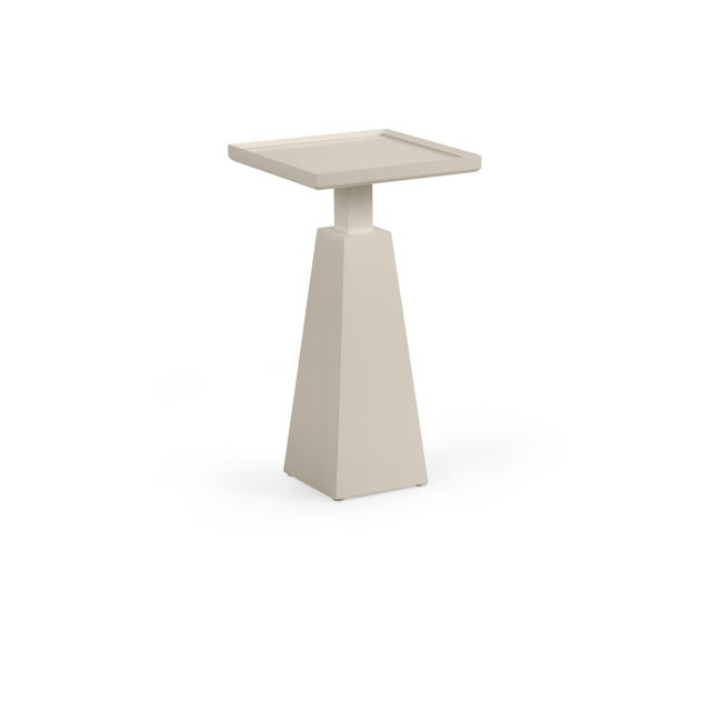 Transitional Casa Cosima Hayes Spot Table, Revere Pewter For Sale - Image 3 of 3
