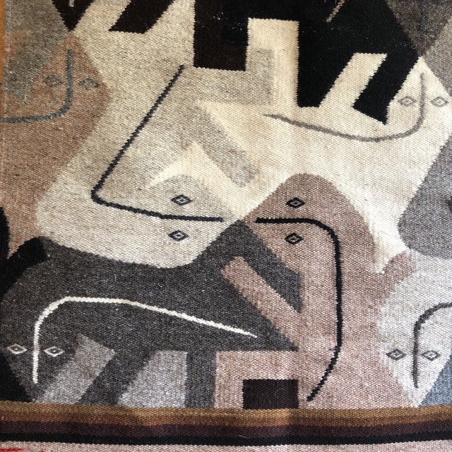 Beautiful modernist reptile hanging tapestry, perfect for the interior designer. Made in the 1980s.