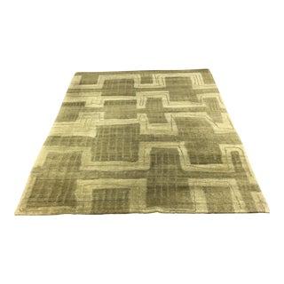 Tibetan Vegetable Dyed Wool Rug - 4′12″ × 6′11″