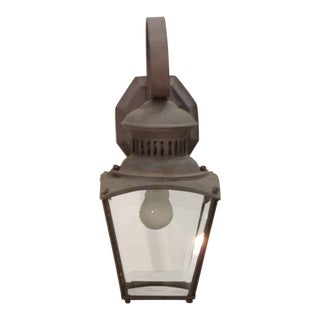 20th Century Outdoor Metal Lantern Sconce For Sale