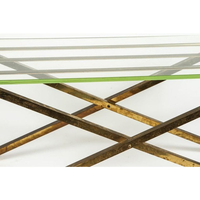 Brass & Glass Tray Coffee Table - Image 5 of 8