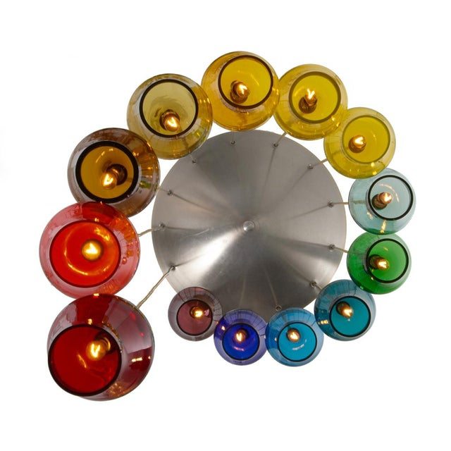 Morris Lapidus Rainbow Spiral Glass Chandeliers - a Pair For Sale In New York - Image 6 of 7