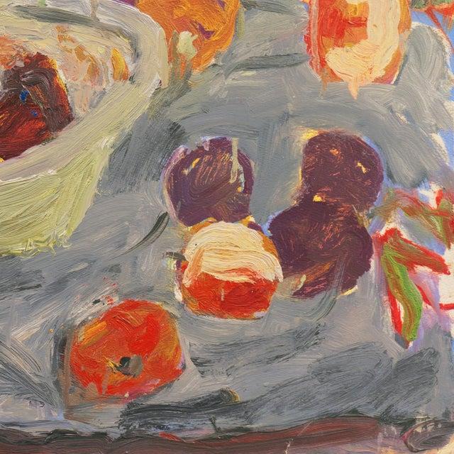 'Still Life With Plums' by Janet Ament De La Roch; Salon D'Automne, Paris, California Woman Artist, Lacma For Sale - Image 4 of 9