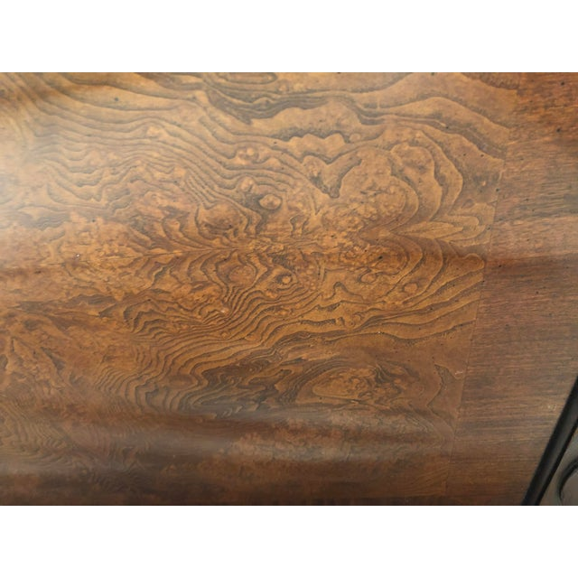 Traditional Century Furniture Tradtional Mahogany Headboard With Burl Inlay For Sale - Image 3 of 9