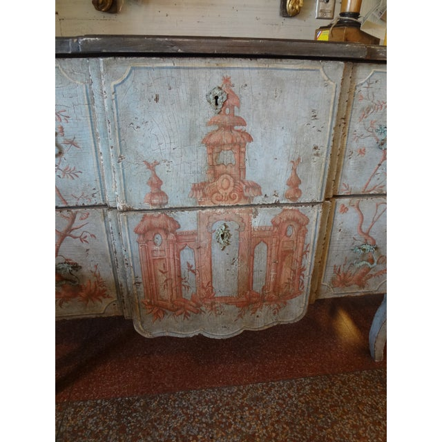 19th Century Italian Painted Commode For Sale - Image 9 of 11