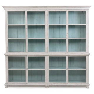 Large Painted Two-Piece Display Cabinet Preview