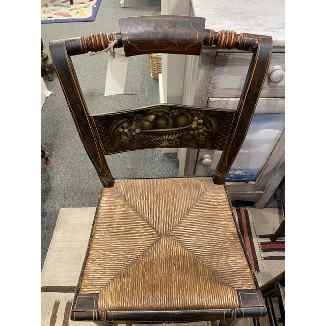 Late 19th Century Hitchcock Style Chairs - Set of 4 For Sale In Boston - Image 6 of 9