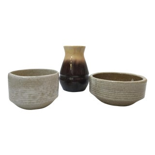 Mid-Century Modern Pottery - 3 Piece Collection For Sale