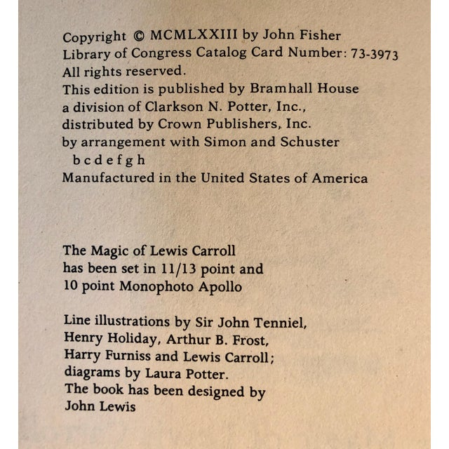 Paper 1973 The Magic of Lewis Carroll Hard Cover Book For Sale - Image 7 of 9