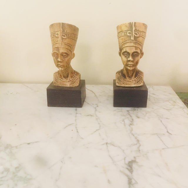 Mid 20th Century Vintage Villeroy & Boch Egyptian Style Nephrititi Bookends - a Pair For Sale - Image 5 of 5