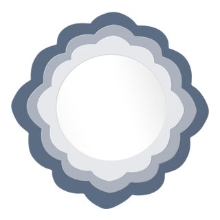Fleur Home x Chairish Audobon Magnolia Circle Mirror in Distance, 24x24 For Sale