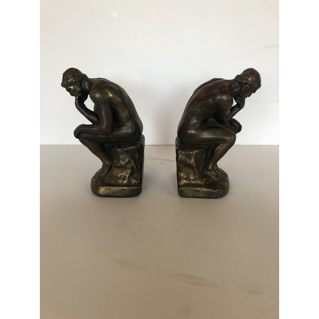 Bronze Clad Male Nude Bookends For Sale - Image 11 of 13