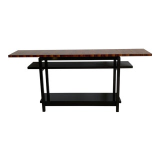 Mid-Century Modern Console Table With Floating Top For Sale