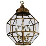 Image of Octagonal Brass Lantern, Two Available For Sale