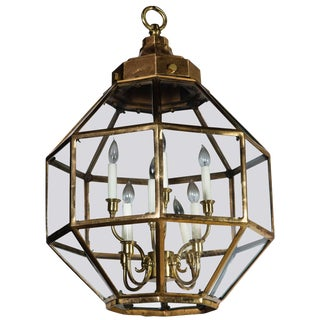 Octagonal Brass Lantern, Two Available For Sale
