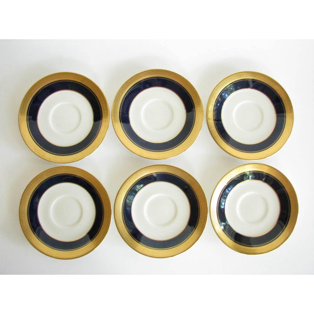 Vintage Noritake Cobalt and Gold Encrusted Band Tea Set - 21 Pieces For Sale - Image 9 of 13