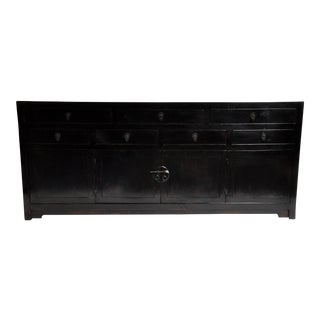 Seven Drawer Chinese Sideboard With Bi-Folding Doors