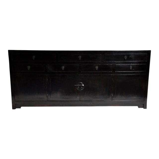 Seven Drawer Chinese Sideboard With Bi-Folding Doors For Sale