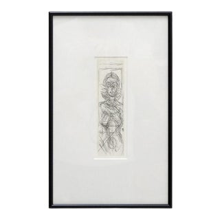 """1955 """"Annette De Face"""" Lithograph After Alberto Giacometti, Framed For Sale"""